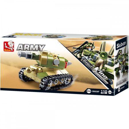 Sluban Builder Army 6 into 1 - Önjáró löveg építőjáték készlet
