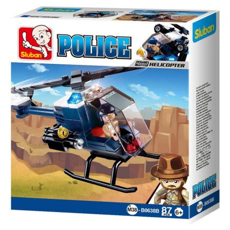 Sluban Police - 4 into 1 rendőrségi helikopter építőjáték készlet
