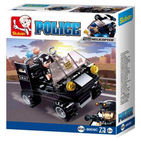 Sluban Police - 4 into 1 SWAT terepjáró építőjáték készlet