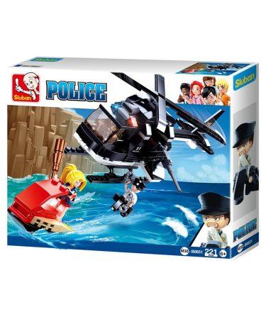 Sluban Police - Rendőrségi helikopteres üldözés építőjáték készlet