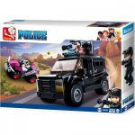 Sluban Police - Swat autós üldözés építőjáték készlet