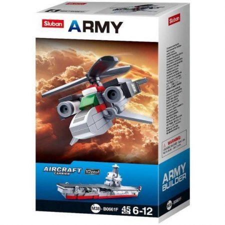 Sluban Army - Kis helikopter építőjáték készlet