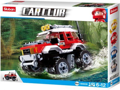 Sluban Car Club - Piros terepjáró építőjáték készlet