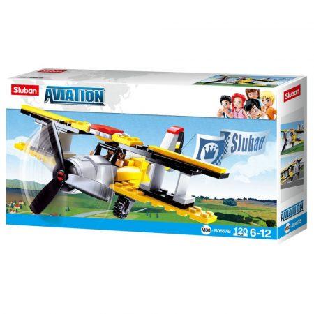 Sluban Aviation – Kétfedelű repülőgép építőjáték készlet