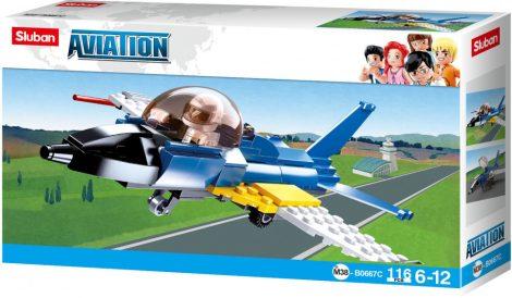 Sluban Aviation – Gyakorló vadászrepülőgép építőjáték készlet