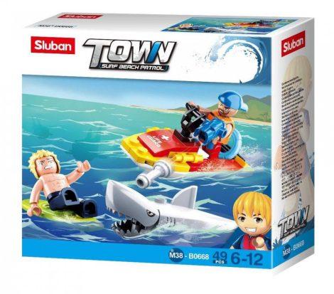 Sluban Town - Surf Beach Patrol cápatámadás építőjáték készlet