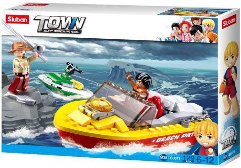 Sluban Town - Surf Beach Patrol motorcsónakos mentés építőjáték készlet