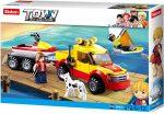 Sluban Town - Surf Beach Patrol partiőrség terepjáró és jetski építőjáték készlet