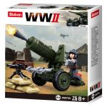 Sluban WWII - 4 in 1 szövetséges tüzérség építőjáték készlet