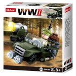 Sluban WWII - 4 in 1 Szövetséges terepjáró építőjáték készlet