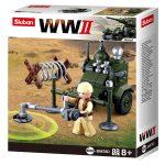 Sluban WWII - 4 in 1 Fémdetektoros aknakereső építőjáték készlet