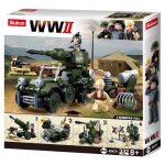 Sluban WWII - 4 in 1 giftbox katonai építőjáték készlet