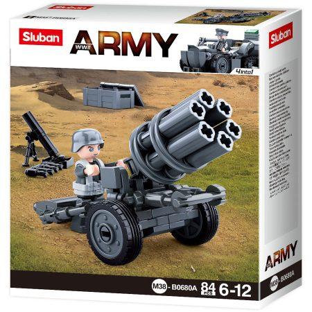 Sluban Army WWII - 4 into 1 német rakétavető építőjáték készlet