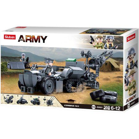 Sluban Army WWII - 4 into 1 német második világháborús építőjáték készlet