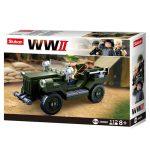 Sluban Army WWII - szövetséges terepjáró építőjáték készlet