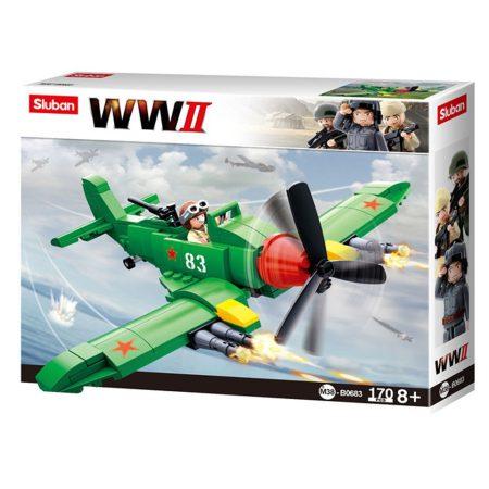 Sluban Army WWII - Szövetséges vadászgép építőjáték készlet
