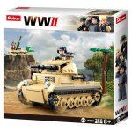 Sluban Army WWII - német Panzer II. tank építőjáték készlet