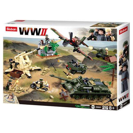 Sluban Army WWII - Csata a keleti fronton 998 darabos építőjáték készlet