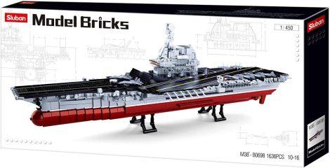 Sluban Model Bricks - Nagy repülőgép-hordozó építőjáték készlet