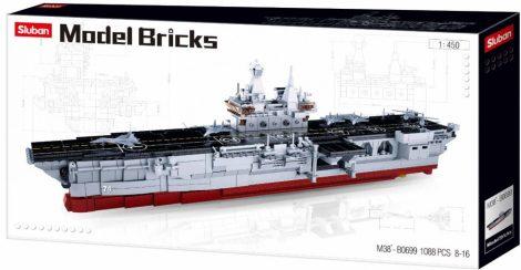 Sluban Model Bricks - Repülőgép-hordozó építőjáték készlet