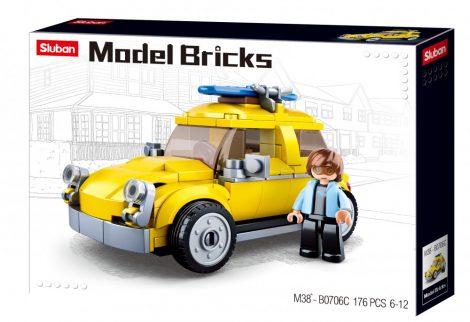 Sluban Model Bricks - Volskwagen bogár építőjáték készlet