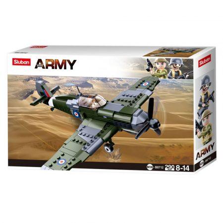 Sluban Army WWII - Hurricane vadászgép építőjáték készlet