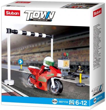 Sluban Town - Motorcycle piros versenymotor építőjáték készlet