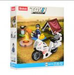 Sluban Town - Táborozó motoros építőjáték készlet