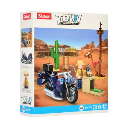 Sluban Town - Motoros kirándulás építőjáték készlet