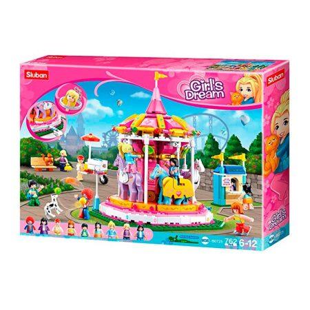 Sluban Girl's Dream - Vidámparki körhinta építőjáték készlet