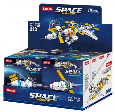 Sluban Space - 8 into 1 nagy űrállomás építőjáték készlet