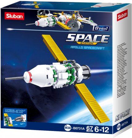 Sluban Space - 8 into 1 Apollo űrhajó építőjáték készlet