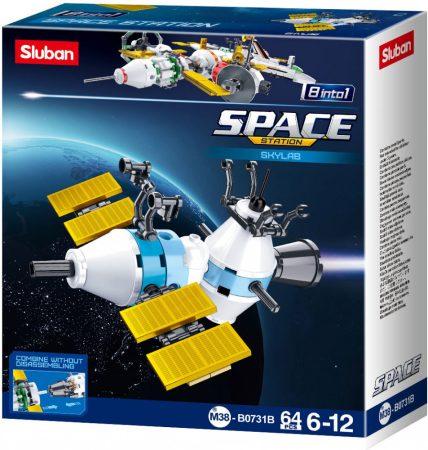 Sluban Space - 8 into 1 Skylab űrállomás építőjáték készlet