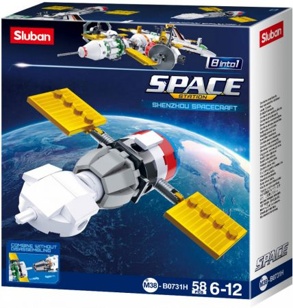 Sluban Space - 8 into 1 Shenzhou űrhajó építőjáték készlet