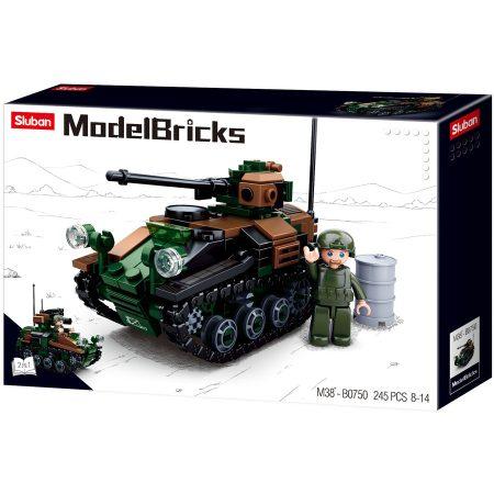 Sluban Model Bricks - Army 2 az 1-ben lánctalpas páncélozott jármű építőjáték készlet