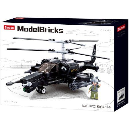 Sluban Model Bricks - Army Kamov KA-50 harci helikopter építőjáték készlet