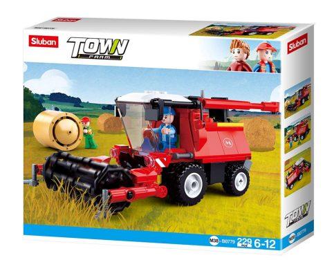Sluban Town - Farm kombájn építőjáték készlet