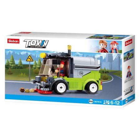 Sluban Town - City Cleaner utcaseprő teherautó építőjáték készlet