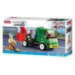 Sluban Town - City Cleaner hulladékszállító teherautó építőjáték készlet