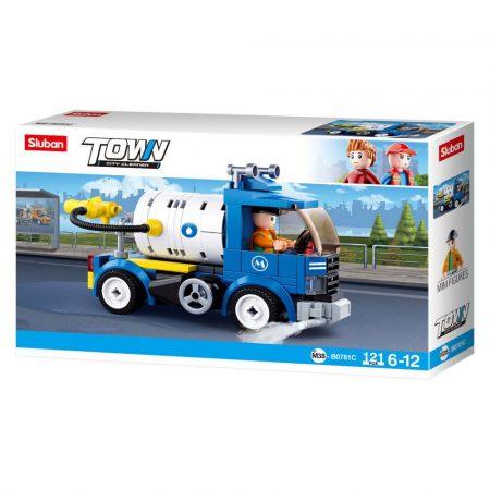 Sluban Town - City Cleaner locsoló teherautó építőjáték készlet