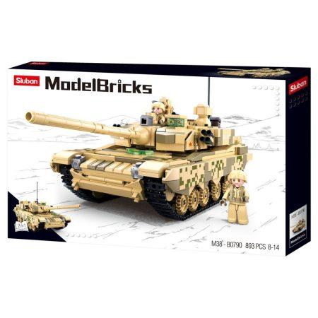 Sluban Model Bricks - Army 99-es típusú, 2 az 1-ben nehéz harckocsi építőjáték készlet