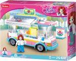 Sluban Girl's Dream - Egészségügyi kocsi építőjáték készlet