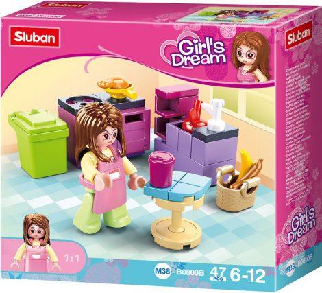 Sluban Girl's Dream - Konyha építőjáték készlet