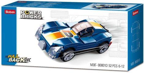 Sluban Power Bricks Pull Back - Blue Monster felhúzható autó építőjáték készlet