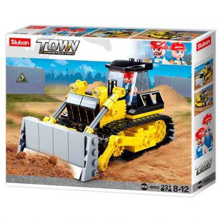 Sluban Town - Nagy bulldózer építőjáték készlet