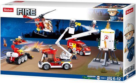 Sluban Fire - Tűzoltó különítmény építőjáték készlet
