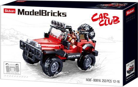 Sluban Moder Bricks - 4x4-es Jeep Wrangler terepjáró építőjáték készlet