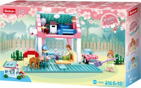 Sluban Girl's Dream - Kertes ház építőjáték készlet