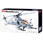 Sluban Model Bricks - Army AH-1Z Viper helikopter építőjáték készlet