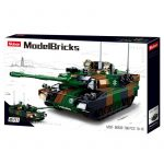 Sluban Model Bricks - Army 2 az 1-ben Leopard 2 harckocsi építőjáték készlet
